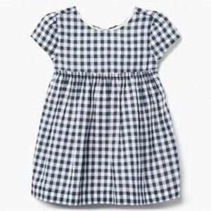 Gymboree 2019 blue Gingham Dress 100% cotton NWT